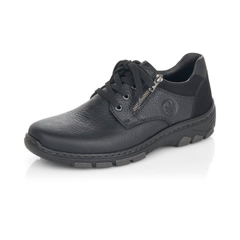 RIEKER 19921-00 MEN'S BLACK LACE UP SHOES