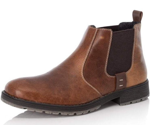 RIEKER 33353-25 MEN'S BROWN PULL ON BOOTS