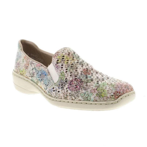 Rieker Ladies 413Q6-90 MULTI colour slip on shoe
