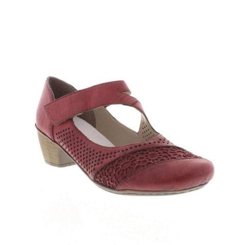 RIEKER Ladies 41743-35 FASTNER RED LADIES' SHOES SIZE
