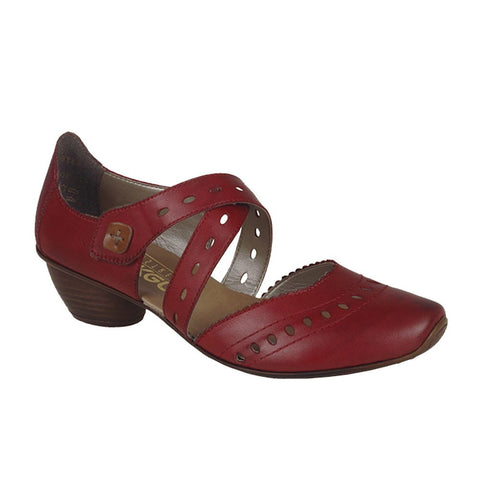 Rieker Ladies 43703-33 Red Shoes