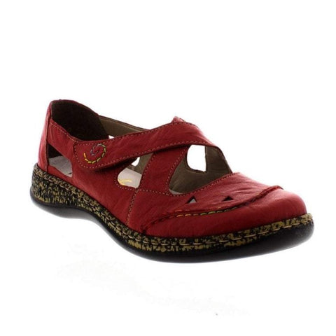 Rieker Ladies 46335-33 RED Bar Shoe