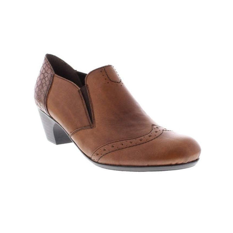 RIEKER 50563-24 LADIES BROWN SLIP ON SHOES