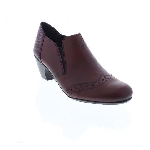 Rieker Ladies 50563-35 Wine Slip on Shoe