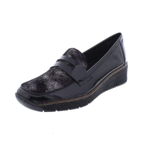 Rieker Ladies BLACK 53732-01 Slip on Shoe