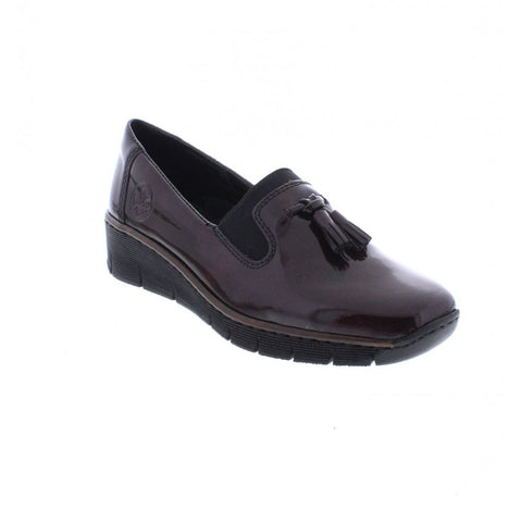 Rieker 53751-35 Burgundy Slip On shoes