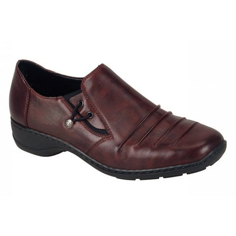 Ladies Rieker shoe 58353-00 Burgundy