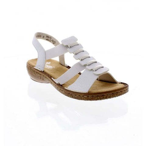 RIEKER Ladies 62850-80 LADIES WHITE SANDALS