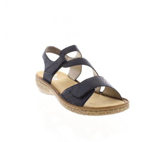 Rieker Ladies 628J1-14 NAVY Sandal