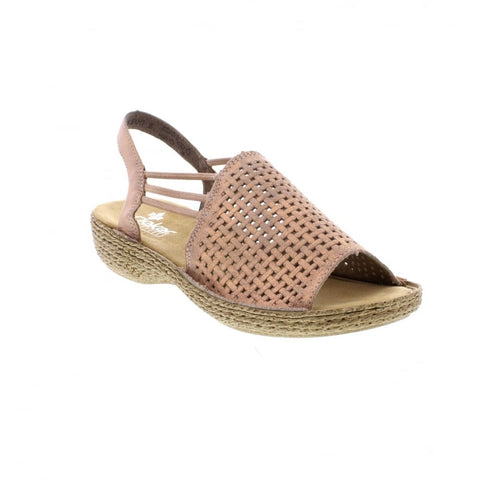 Rieker Ladies 65845-31 ROSE Sandal