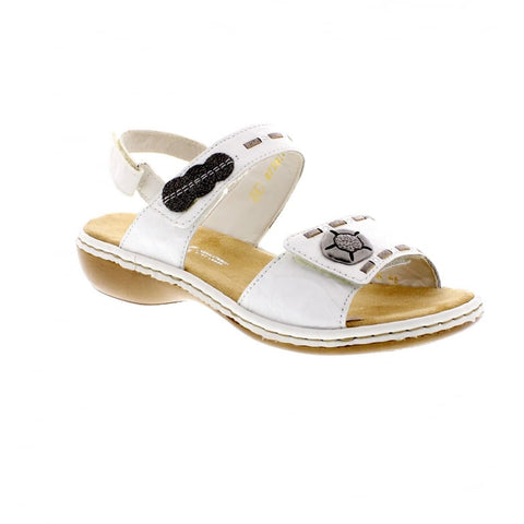 RIEKER Ladies 65972-82 LADIES WHITE SANDALS