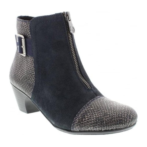 Ladies Rieker Ankle Boot 70581-00 Navy