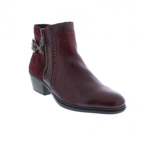 Rieker  ankle boot 75585-30 Red Combination
