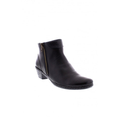 1470ed87de5 RIEKER 76961-00 LADIES BLACK ANKLE BOOTS – A.G. Meek