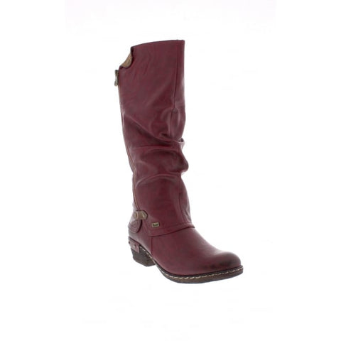 Rieker Long Zip Boot  WINE 93655-35