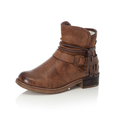 RIEKER  ANKLE BOOTS with Zip  94689-22 BROWN