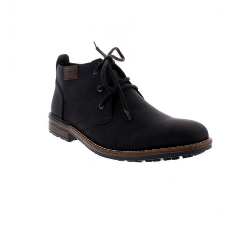 Rieker Mens BLACK B1340-01 Lace up Boot