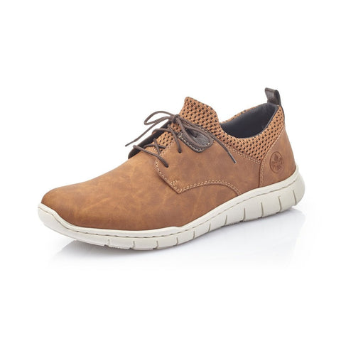 Rieker B8753-26 Brown Lace Up Casual Shoe