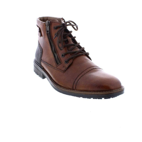 Rieker Mens  F1340-22 Brown Leather Ankle Boot
