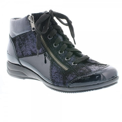 Rieker Ladies Ankle Boot L3633-14 NAVY .