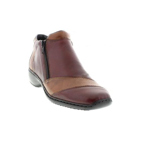 Ladies Rieker Ankle Boot L3864 Burgundy Leather