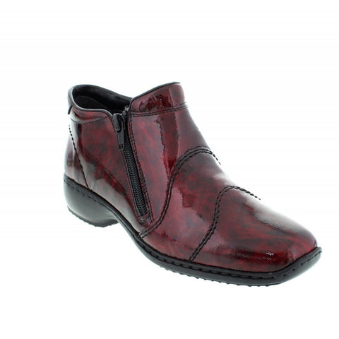 Ladies Rieker Ankle Boot L3892-37 Red