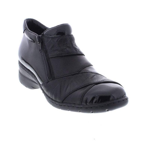 RIEKER ANKLE BOOTS ZipL4373-00 LADIES BLACK