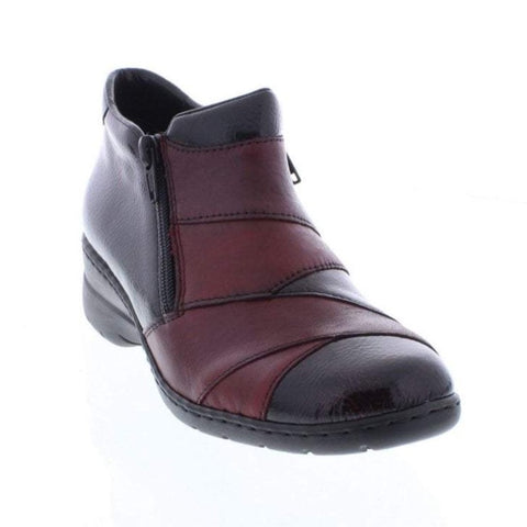 RIEKER ANKLE BOOTS WITH ZIP L4373-35 RED