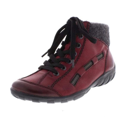 RIEKER ANKLE BOOTS L6543-35 RED COMBINATION