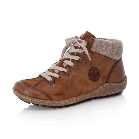 Rieker Ankle Boot with Laces and Zip L7513-23 Brown