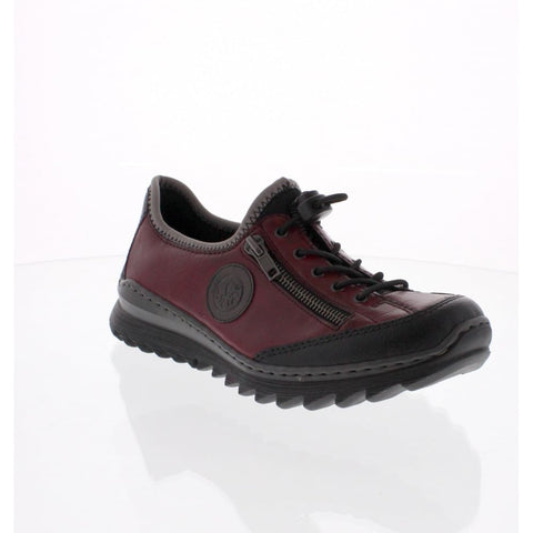 Rieker Ladies M6269-00 Burgundy/ Black Slip on Shoe