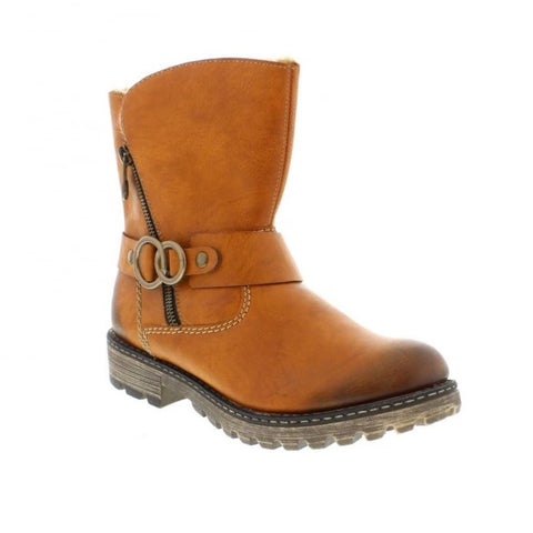 Rieker Y6767-24 Brown Calf Boot