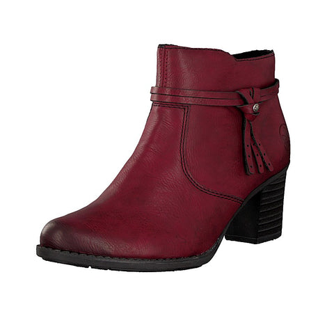 Rieker  L7664-35 Red Ankle Boot