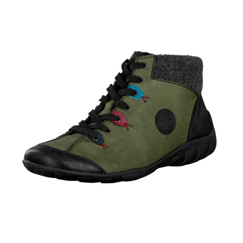 Rieker  ankle boot  L6513-00 Green Lace up Boot