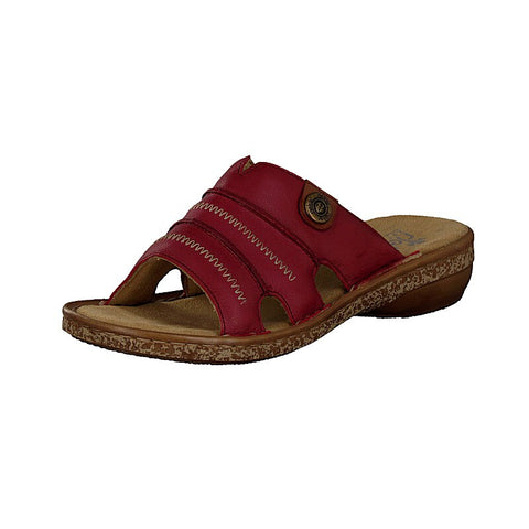 Rieker Ladies RED 62875-33 Mule Slip on Sandal