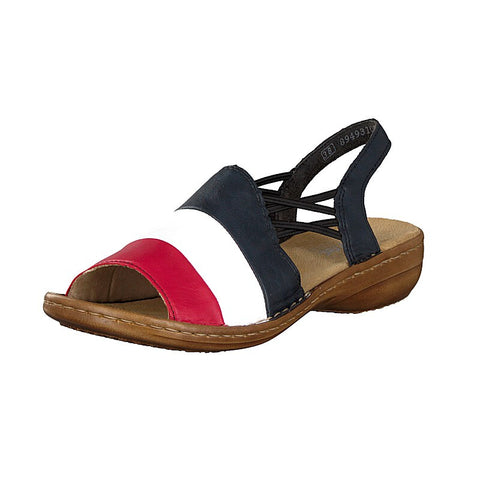 Rieker 608S3-33 Red White Blue comfort sandal