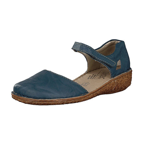Rieker Ladies M0969-13 BLUE Bar Shoe