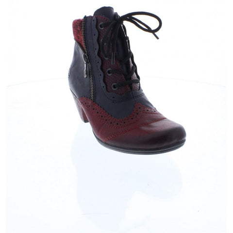 Rieker Y7211-35 Red combination ankle boot