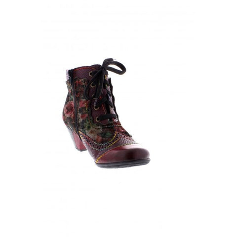 RIEKER LADIES  COMBINATION BOOTS RED Y7213-34