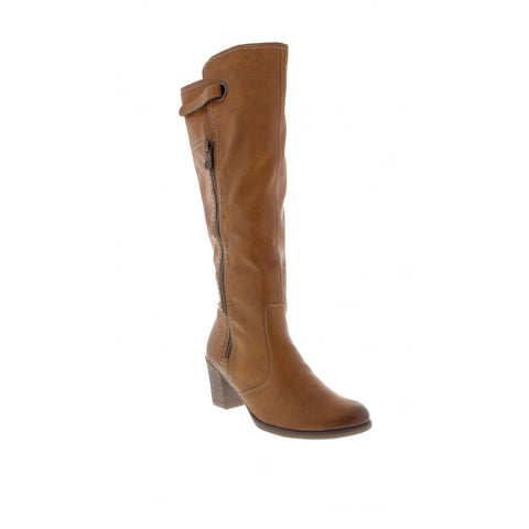 RIEKER Y8980-24 LADIES BROWN ZIP BOOTS