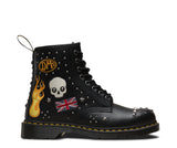 Dr Martens 1460 Black ROCK and ROLL Boot