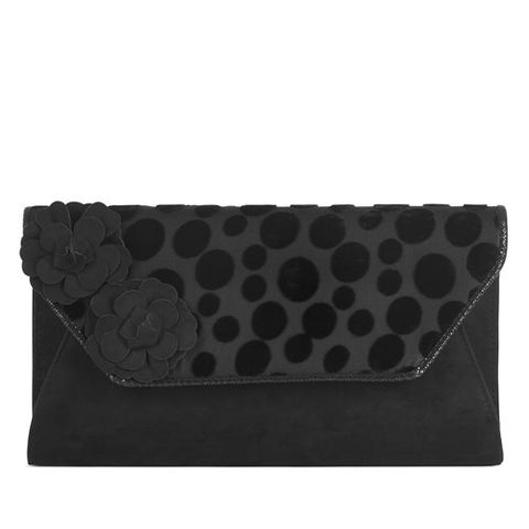 Ruby Shoo Bag Capri  Black Spot