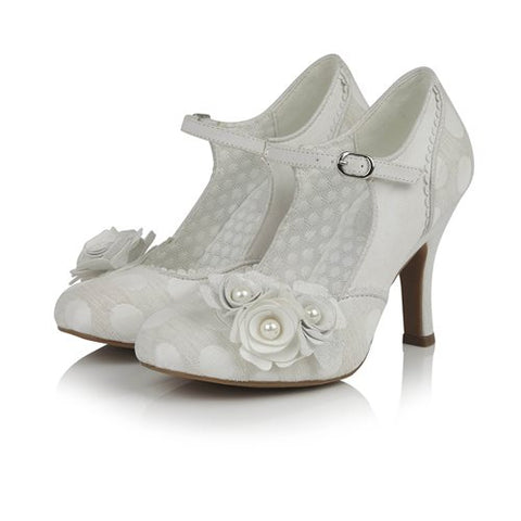 Ruby Shoo Antonia WHITE/SILVER .