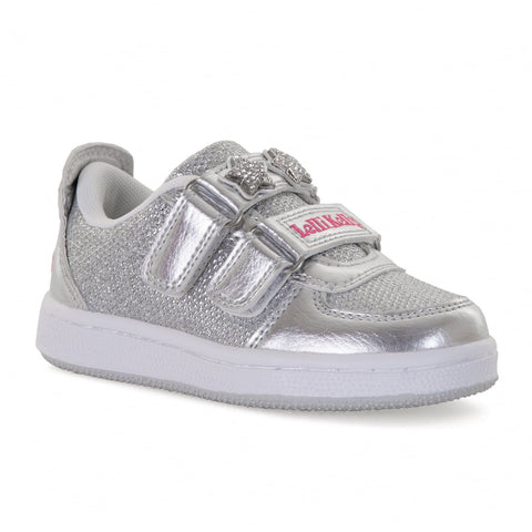 Lelli Kelly 7896 Colourisimma Silver Trainers with changeable straps & Hair Clip Gift