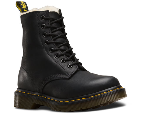 Dr Martens Black Serena Fur Lined Boot 21797001