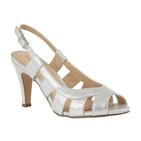 Lotus Dakota SILVER  Sling Back Occasion Shoes uls158