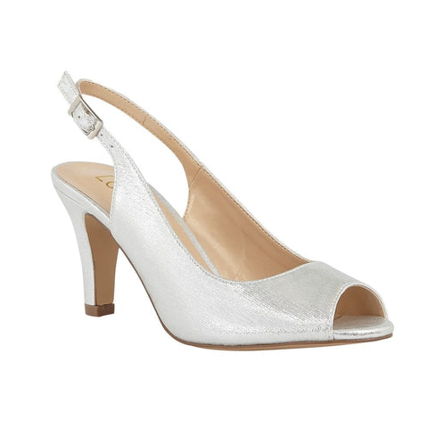 Lotus Larissa SILVER Peep Toe Occasion Shoes