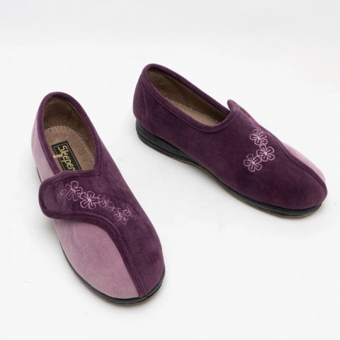 SLEEPERS GEMMA Ladies Full Slippers Purple/Lilac
