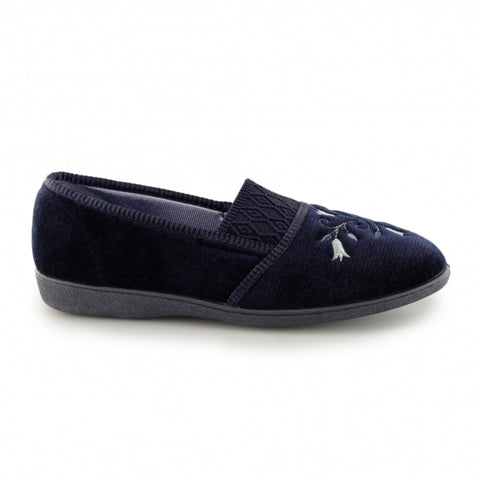 Ladies Slipper by Sleepers Inez in Navy LS792C