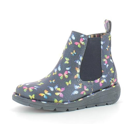 Heavenly feet Rolo Navy Butterflies Boot